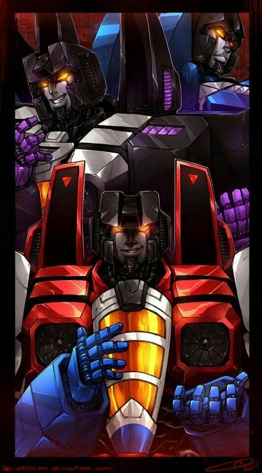 Starscream, Thundercracker, & Skywarp -Transformers