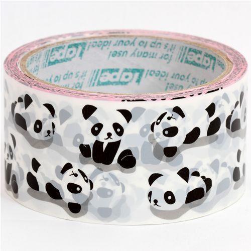 Translucent Wide Sticker Tape  Panda  11 Yards by zakkalover, $5.50