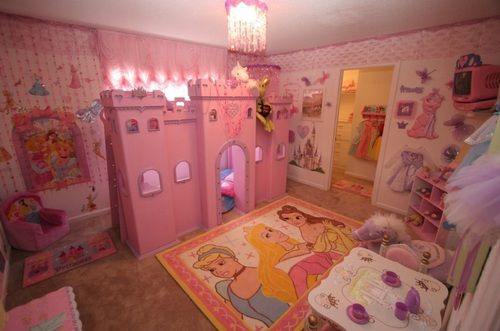 Pink disney princess room could be called tacky but who for Pink princess bedroom