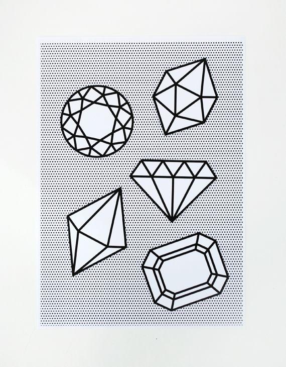 miniecoによる印刷可能なハーフラップ&グラフィック宝石//