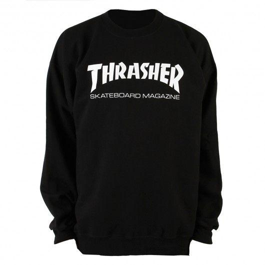 THRASHER Skate Mag sweat-shirt black crew neck 55,00 € #thrasher #sweater #sweatshirt #skate #skateboard #skateboarding #streetshop #skateshop @playskateshop