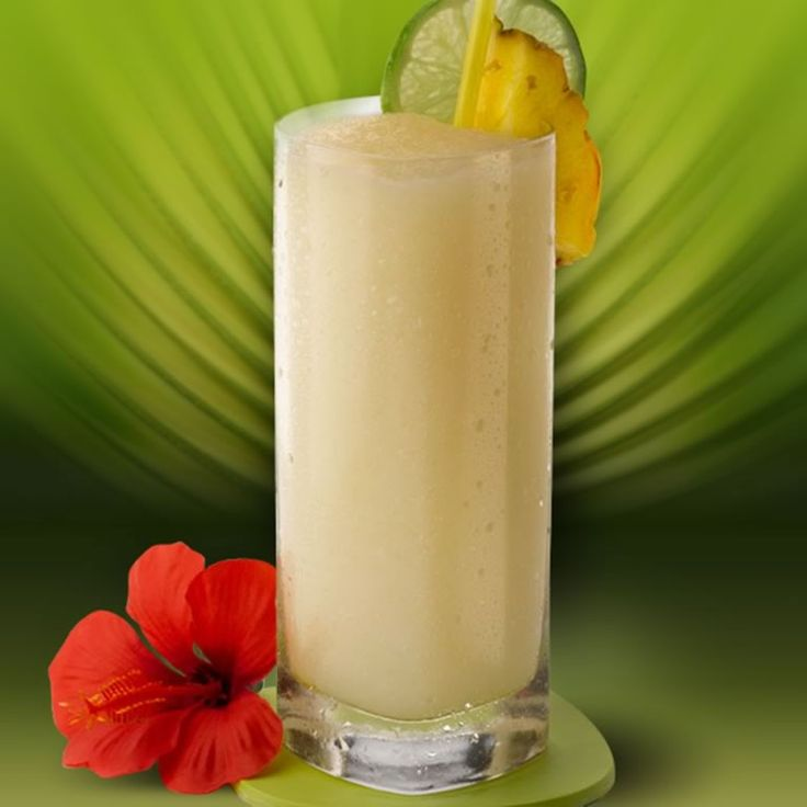 Make this tropical blended treat with our frozen Piña Colada Mix, orgeat almond syrup, lemon juice and rum. Garnish with a classic cocktail umbrella.