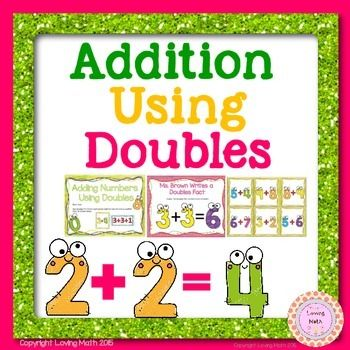 Doubles Facts Addition: Students can practice adding using doubles facts with this set of activities. Included:*Adding Numbers Using Doubles: This is a single digit addition matching game where students have to match the cards using the doubles plus one or doubles minus 1*Ms.