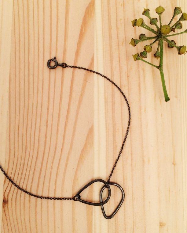 Doodles bracelet oxidized silver | Kyst