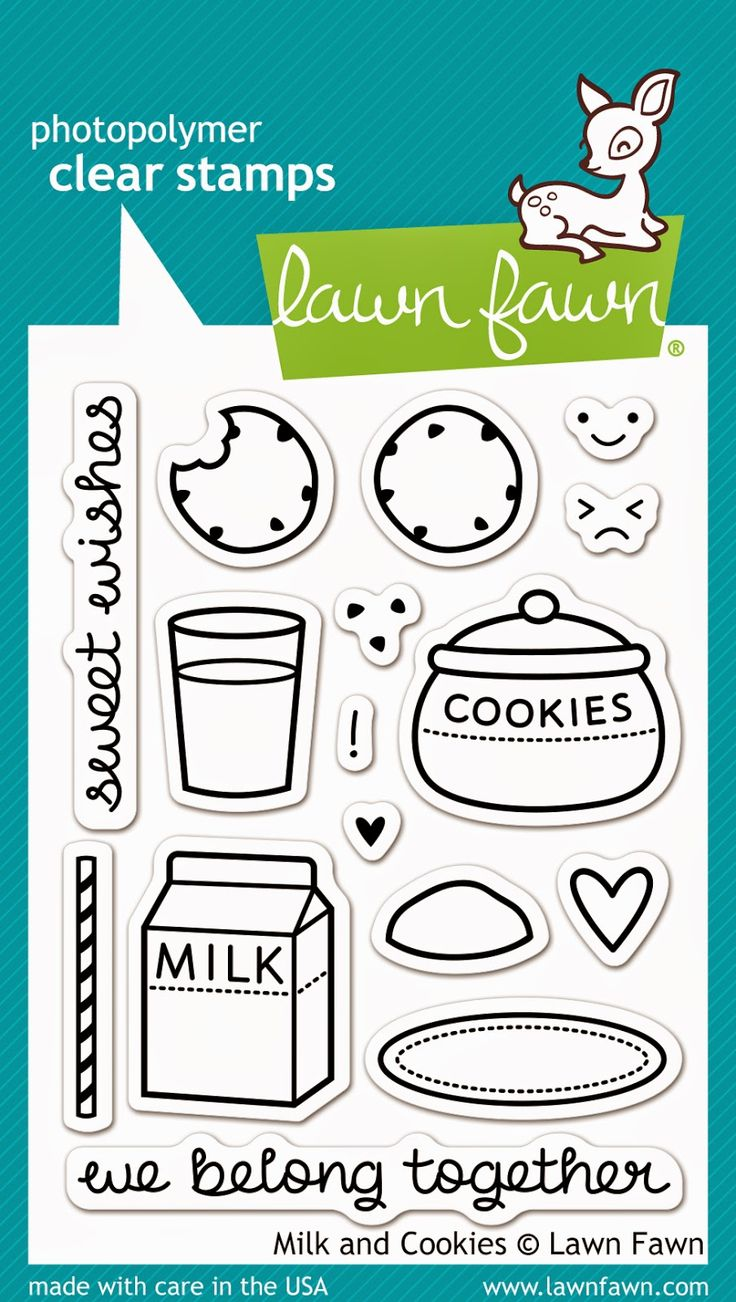 the Lawn Fawn blog: Fall/Winter 2014 Sneak Week - Day 4- Milk & Cookies stamp set.