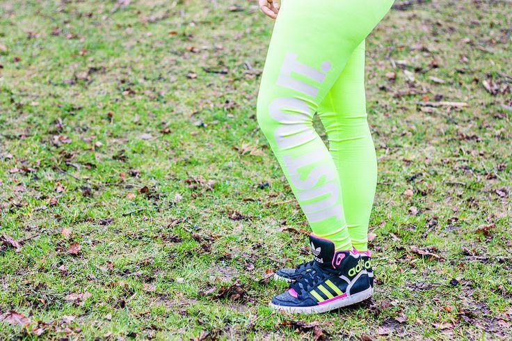 Rebook Mezzo Tights - Treningstights - Neon treningsklær