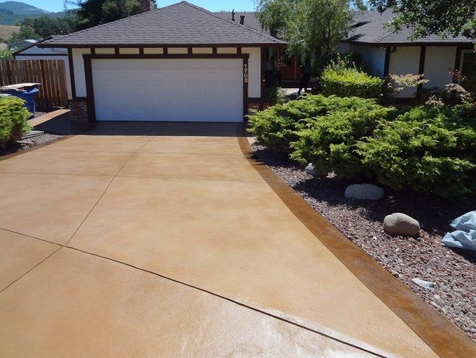 Resurfaced driveway concrete driveways concrete product for Acid wash concrete patio