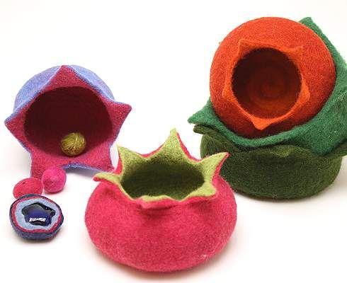 Filzanleitung: Zauberhafte Sternenschalen aus Märchenwolle - Filzwolle
