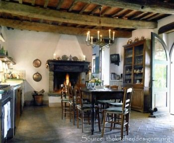 rustic french farmhouse kitchens | The Enchanted Home: Ingredients for a fabulous French kitchen....
