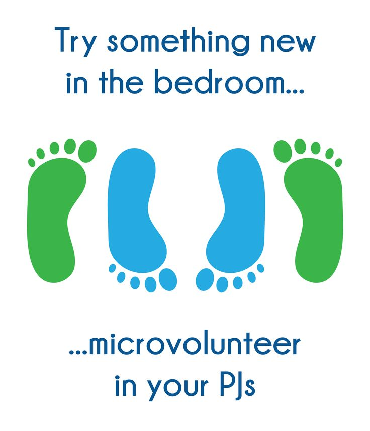 try something new in the bedroom microvolunteer in your