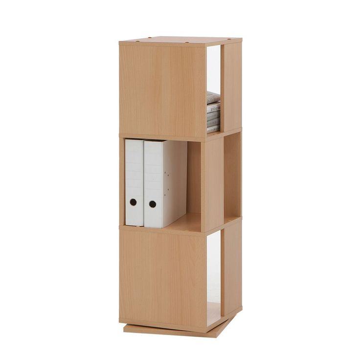 Office Drehregal 3 Ordnerhöhen - Buche Dekor, home24 office Jetzt bestellen unter: https://moebel.ladendirekt.de/wohnzimmer/regale/?uid=070590fc-80fe-52a4-b3ef-2a0bce13f66a&utm_source=pinterest&utm_medium=pin&utm_campaign=boards #möbel #home24 #wohnzimmer #office #regale