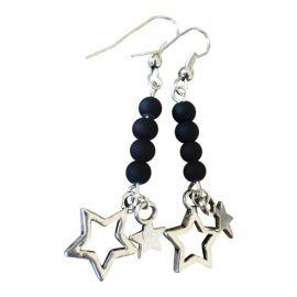 Oorbellen sterren zwart | ***LEUKE CADEAUTJES*** | VILLA VICA