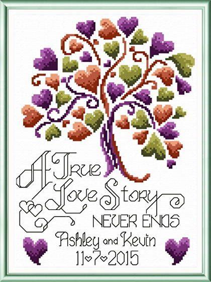Love Story Wedding - cross stitch pattern designed by Ursula Michael. Category: Wedding.