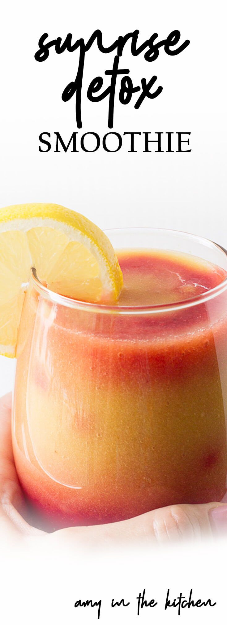 Sunrise Detox Smoothie - Amy in the Kitchen