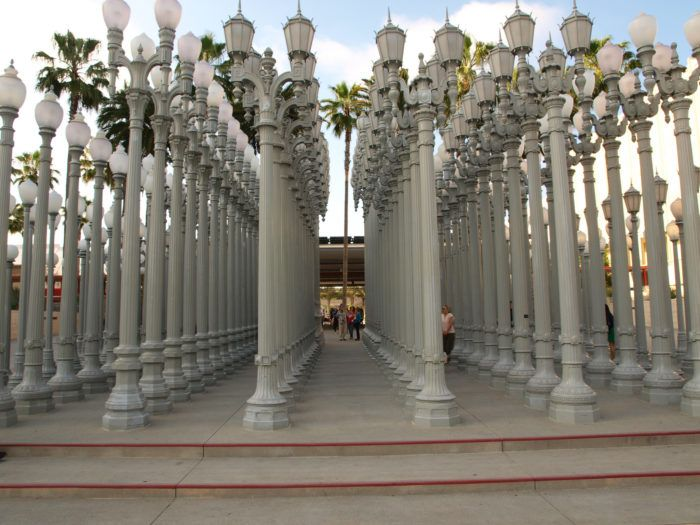 13. Do yourself a favor and see the LACMA urban light sculpture in person. It's especially spectacular at night, but equally striking in the daylight.