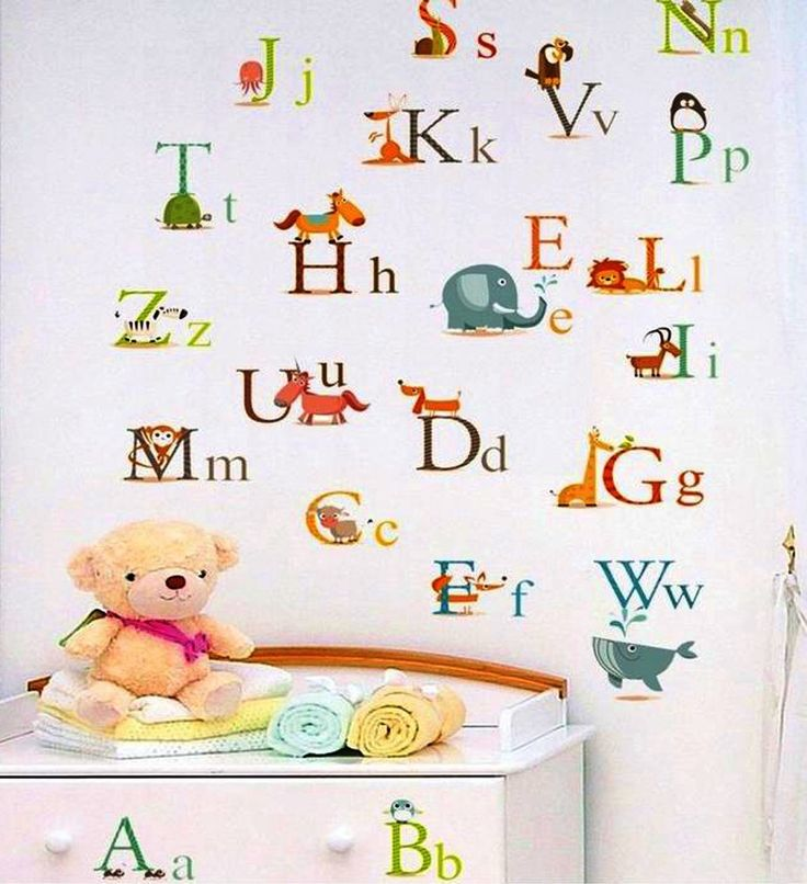 Nursery Wall Decals, Alphabet Wall Decals, Nursery DIY Wall Stickers,  Childrenu0027s Room Alphabet Part 8