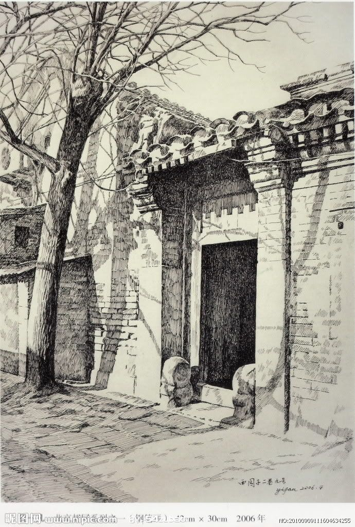 37 pinturas a lapiz y tinta China