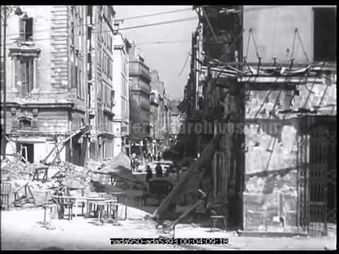 🎥 Marseille, la Libération : Ruines et explosion de mines - YouTube