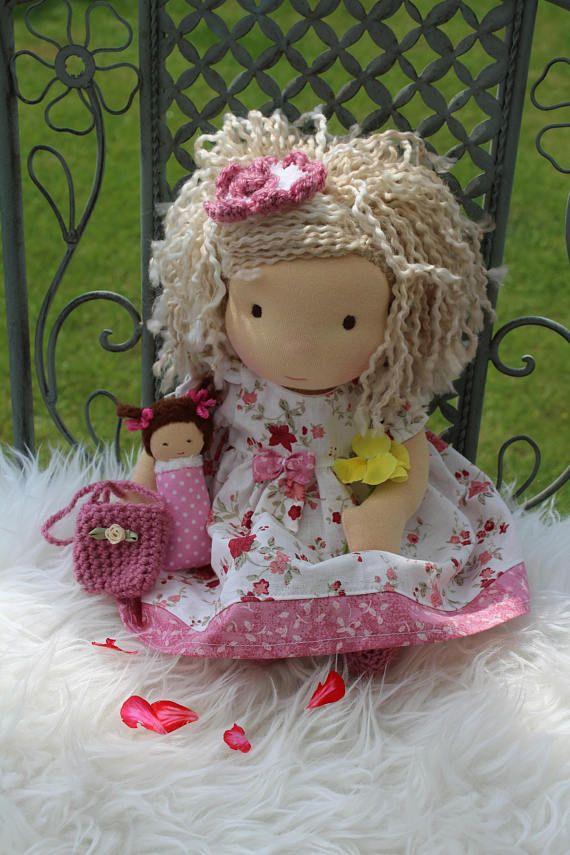 Waldorf doll 13 tall doll steiner doll organic