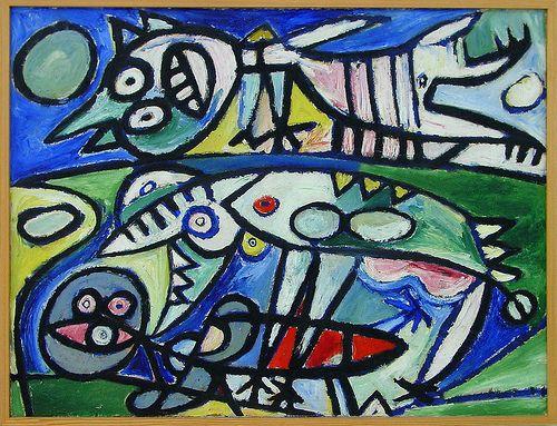 Pedersen, Carl Henning (1913-2007) - 1939 The Eaters (KUNSTEN Museum of Modern Art Aalborg, Denmark)
