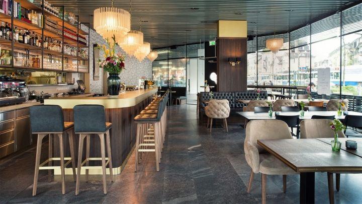 Grand caf lochergut by dyer smith frey zurich for Interior design zurich switzerland