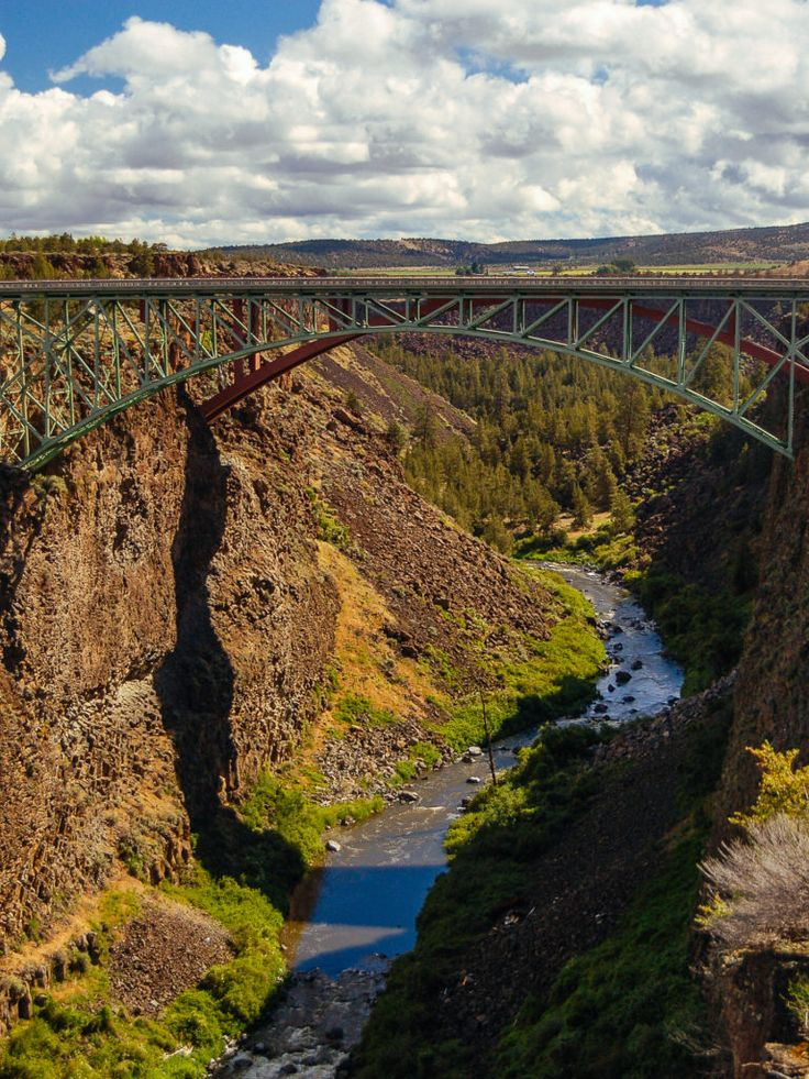 Canyon and bridge in Oregon