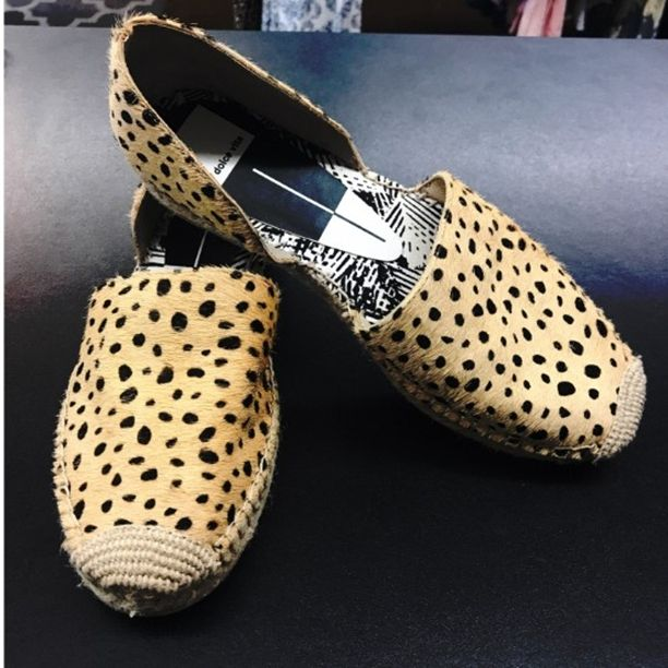 Dolce Vita Ciara Leopard Pony Fur Espadrille Flats - Overseas or right at home, the Dolce Vita Ciara Leopard Pony Fur Espadrille Flats will put you in instant vacation mode! These luxe little flats have a two-piece, calf hair upper with a beige and black leopard print. Espadrille-wrapped flat-form.Size 8M Retail $165 SP: $40 #dolcevita #socute #musthave #shop #consignment