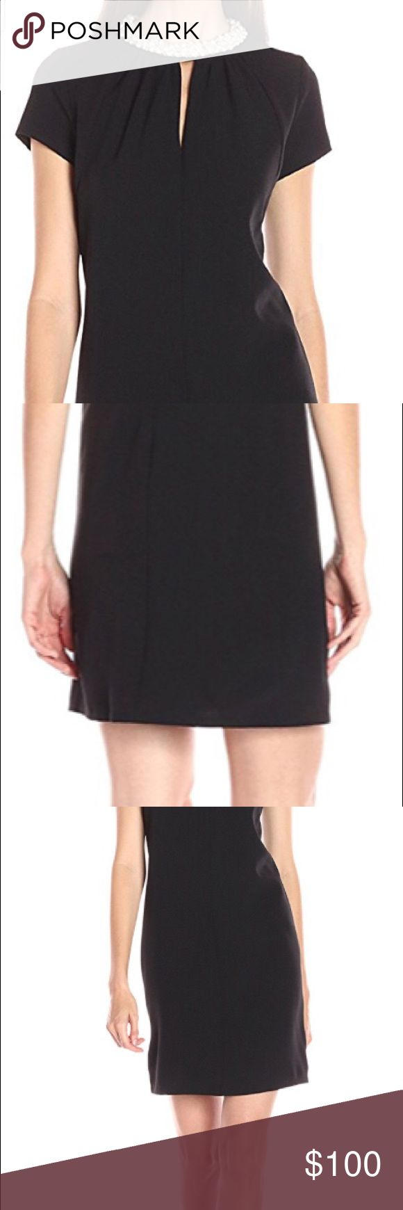 NEW black pearl trim cocktail dress Cute new with tags little black dress with pearl details. Wear to a wedding or any other special occasion. Features 95% Polyester, 5% Spandex Imported Hand Wash Pearl necklace Cap sleeve Donna Ricco Dresses