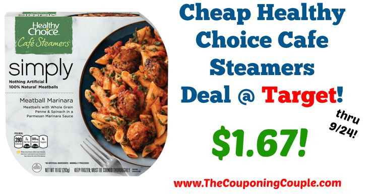 GREAT Price for a quick lunch idea!!! Cheap Healthy Choice Cafe Steamers Deal @ Target!  Click the link below to get all of the details ► http://www.thecouponingcouple.com/cheap-healthy-choice-cafe-steamers-deal-target/ #Coupons #Couponing #CouponCommunity  Visit us at http://www.thecouponingcouple.com for more great posts!