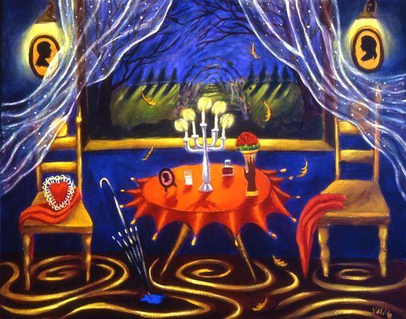 Patssi Valdez Midnight Acrylic On Canvas 24 Quot X 30 Quot 2004