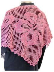 Hibiscus Filet Shawl Crochet Pattern Pack