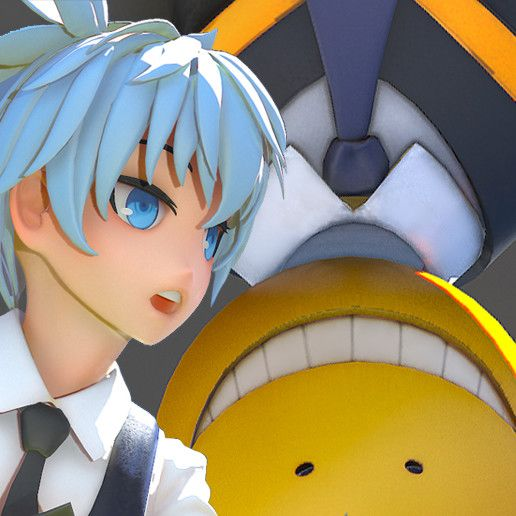 Koro Sensei & Nagisa Shiota, Foxling D.F on ArtStation at https://www.artstation.com/artwork/3mPwJ