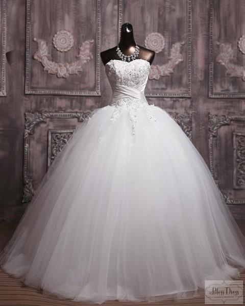 Свадебные бальное платье