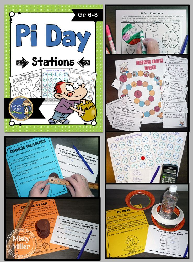 Pi Day Stations will give your students an opportunity to engage in math and have fun on Pi Day. This station pack includes 6 activities The activities are perfect for setting up as stations around the room. $ gr 6-8