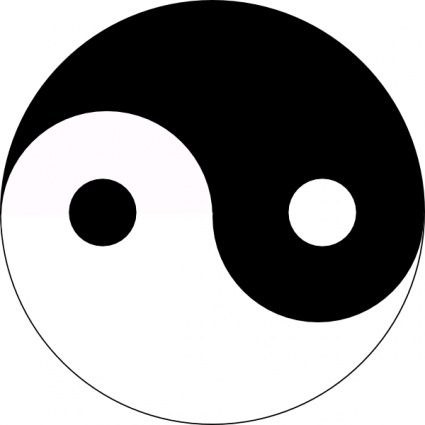 Jin-jang Yin-yang clip art vector, free vectors - Vector.me