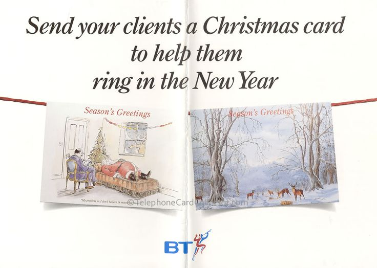 BT Christmas Phonecards: A greeting card within a greetings card  Make sure you're remembered at Christmas with BT's special Christmas Phonecard offer.