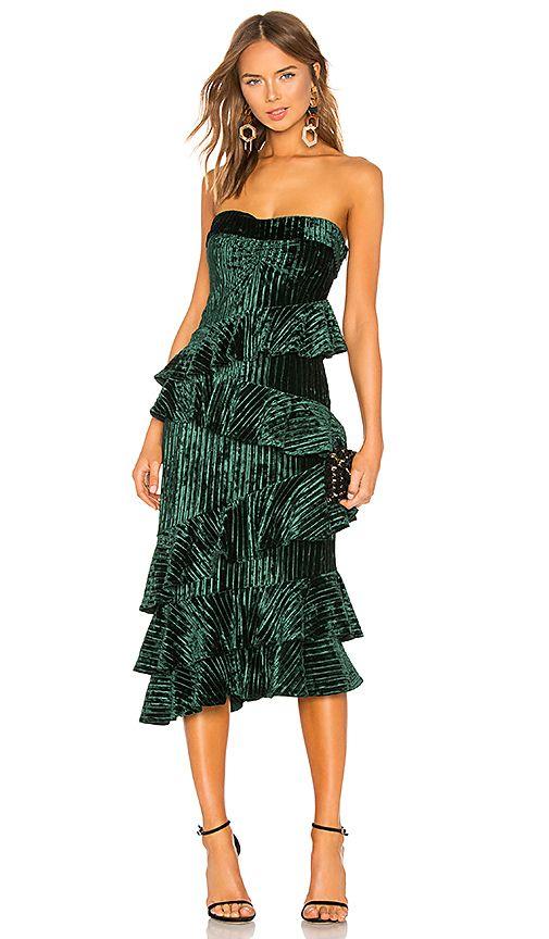74370551de9 NBD Alena Midi Dress in Jewel Green