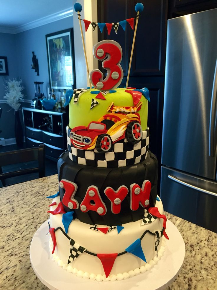 Race Car Blaze And The Monster Machines Themed Birthday