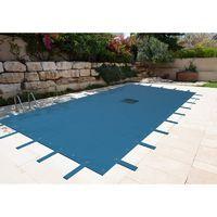 Bâche de protection piscine hiver rectangulaire 140 gr/m² - 5x8 m OU 6x10 m