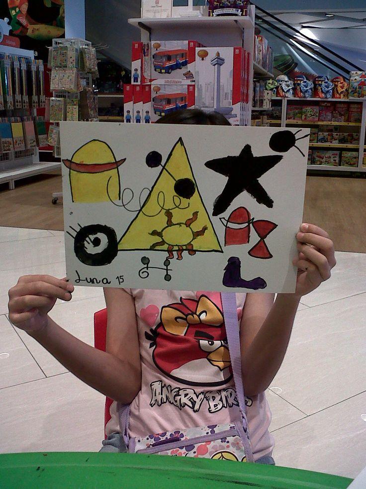 Maeluna Quinteva - Joan Miro - Roll a Miro Game @ Gramedia Kids Emerald Bintaro