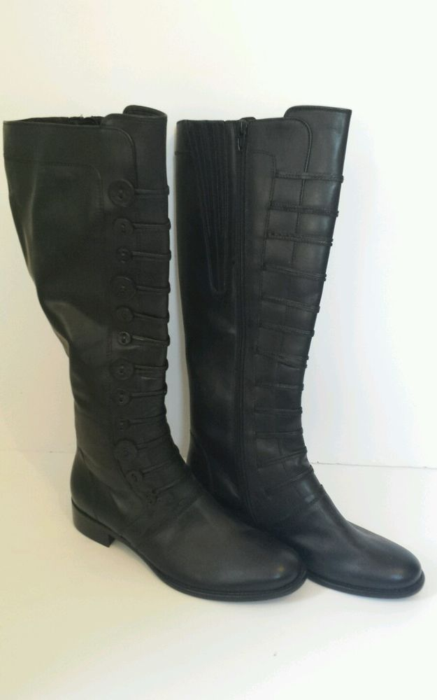 BNWT BLACK GABOR BOOTS SIZE 6 ZIP UP WITH BUTTON DETAILING