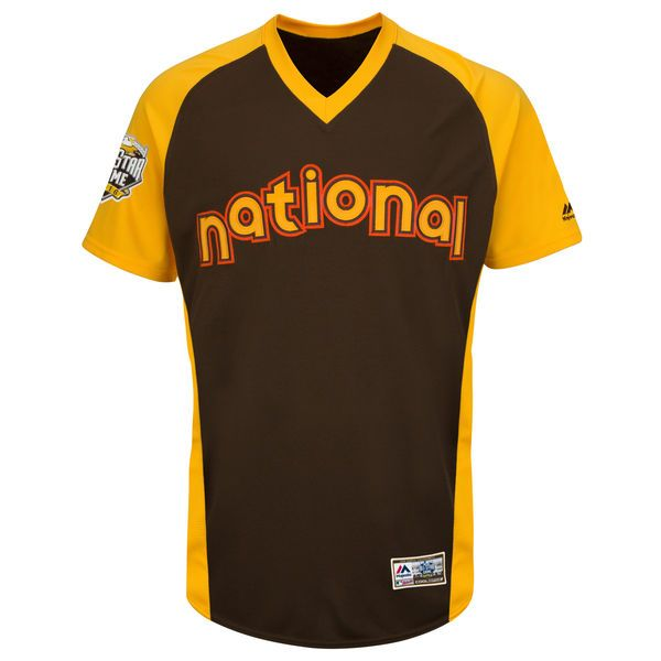 National League Majestic Youth 2016 MLB All-Star Game Cool Base Batting Practice Jersey - Brown - $50.99