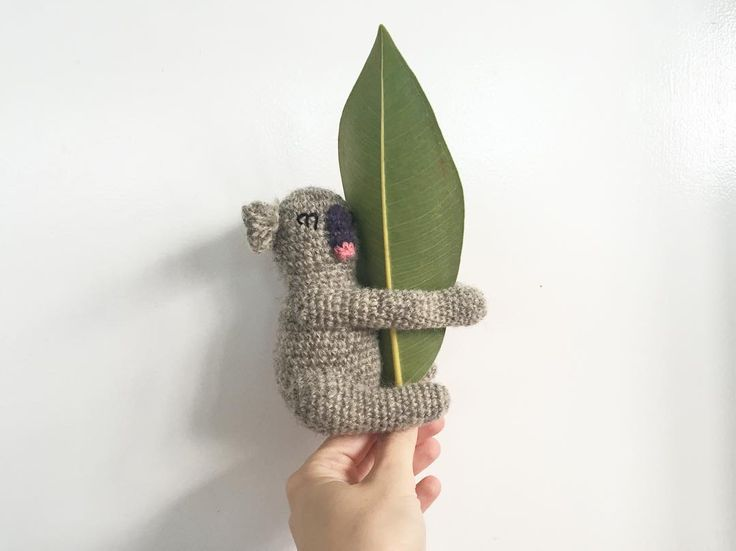 Busy Saturday morning crocheting this little creature #kids #play #wool #yarn #creaturesofyarn #koala #toy #handmade #crochet