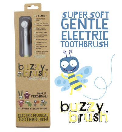 Jack n Jill Buzzy Brush Musical Electric Toothbrush. Kids Electric Toothbrush. Perfect for toddlers and children, and a great way to time their brushing with a two minute song.