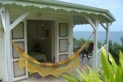 Liane et Adam Bungalow vue mer a Deshaies a 3 minutes a pied plage - Location Bungalow #Guadeloupe #Deshaies