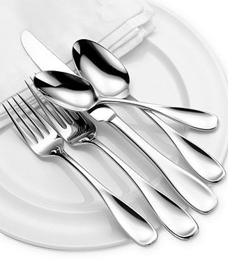 Oneida Voss 50-Piece Flatware Set - Flatware & Silverware - Dining & Entertaining - Macy's - Love my new flatware.  Ordered service for 16, received service for 24 in error and they told me to keep it. :)