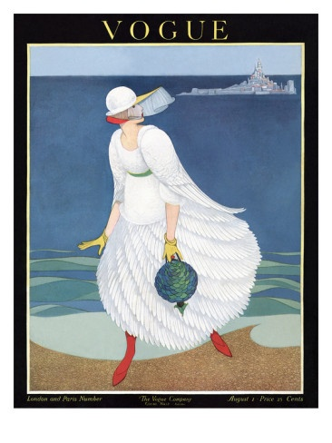 Vogue Cover - August 1916 .