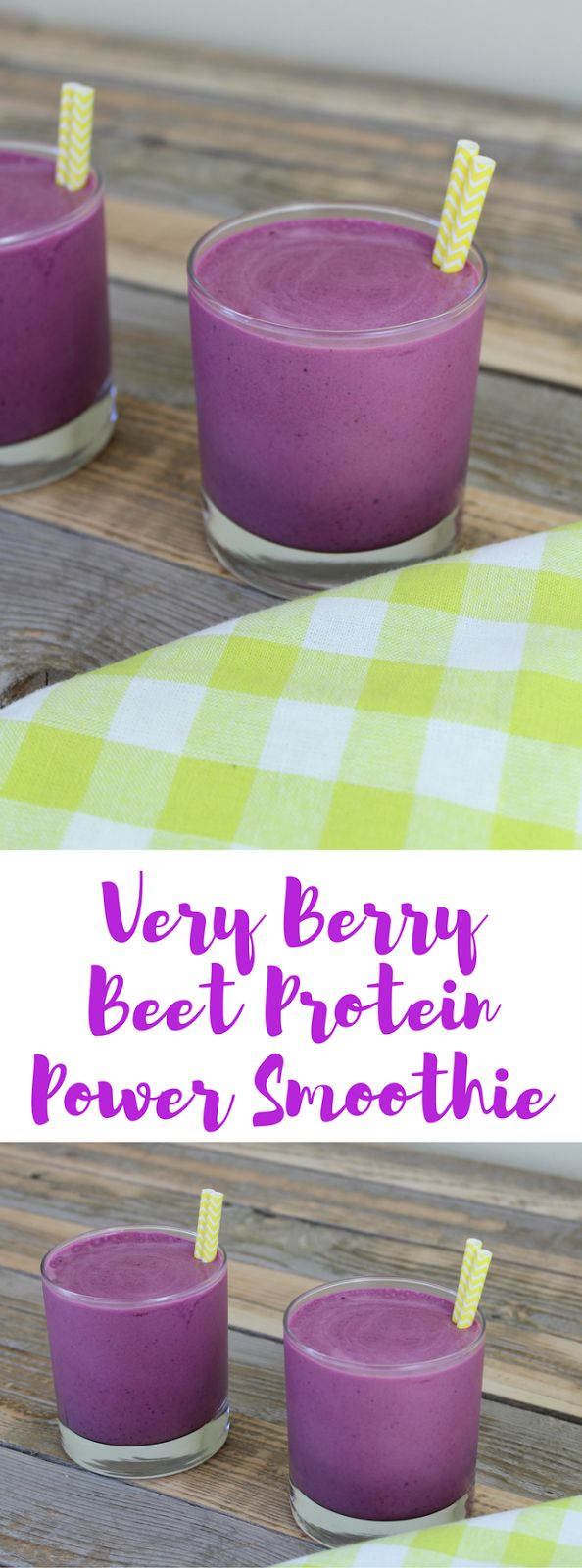 Very Berry Beet Protein Power Smoothie. I'm a little obsessed with beets lately, but beets are really good for you! Beets contain Vitamin C and folate as well as many minerals our bodies need. Plus, they have fiber and a cup of beets only has around 60 calories. WIN.  This gluten-free superfood smoothie is chocked full of good for you things like protein, berries, and beets. It's good for you and yes, it's delicious. Trust me, if you're on the beet fence, TRY IT!
