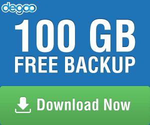 100 GB Free backup - Degoo