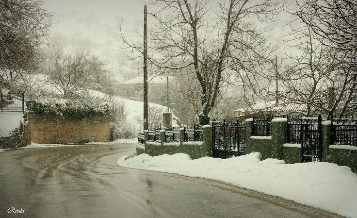 snowing..